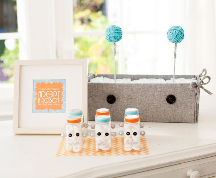robot baby shower showers and parties pinterest