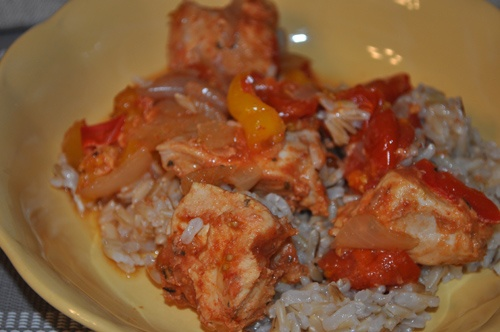 Crock Pot Chicken a la Criolla | My Healthy Eating | Pinterest