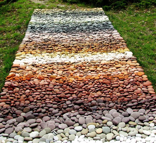 stones colors natures carpet mosaic hard as a rock