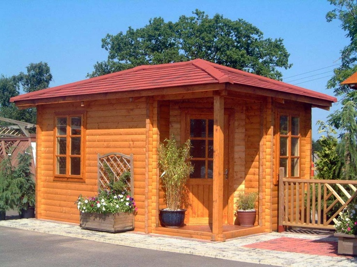Log cabin shed exercise studio addition remodeling ideas for Log cabin additions ideas
