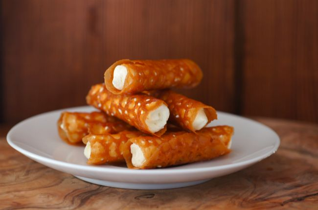 Brandy Snaps. I love these, so yummy.