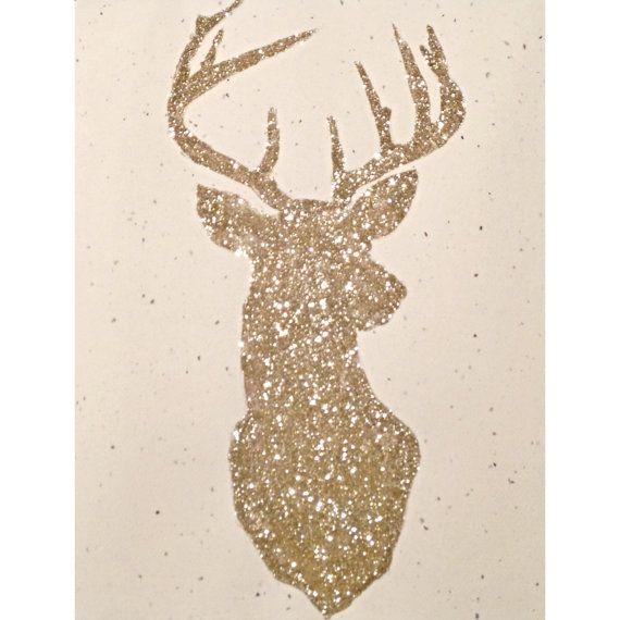 Glittered Deer Print by ArrowsandApricots on Etsy, $10.00
