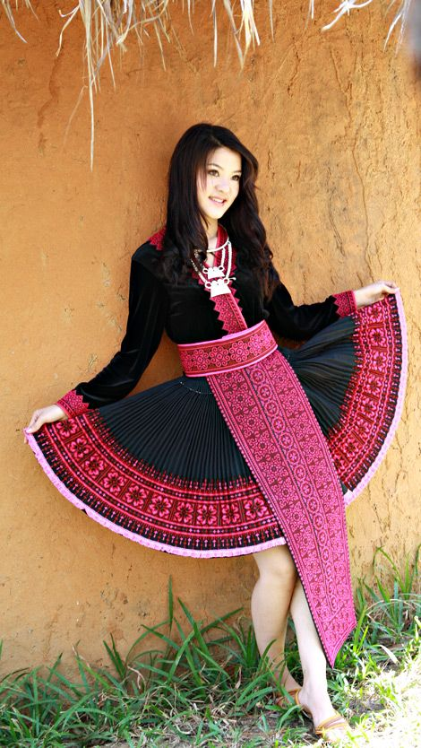 Hmong clothes hmong clothing red outfit