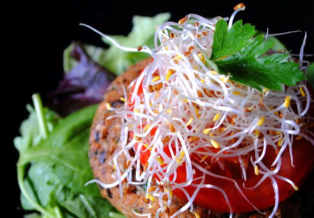 Raw Veggie Burger Delight *nut free* | Rawesomely Delicious! | Pinter ...