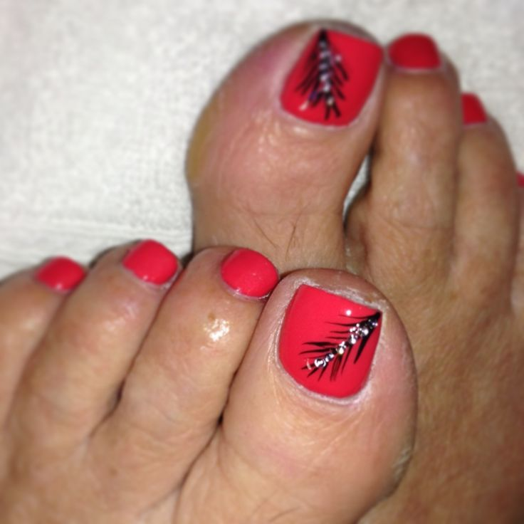 Toe Nail Designs Feather: Pink feathers toe nails my style nailed it ...
