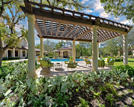 mediterranean landscape landscaping pergola pinterest. Black Bedroom Furniture Sets. Home Design Ideas