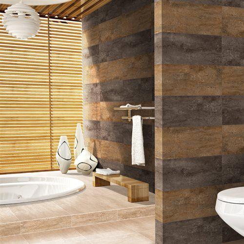 Pisos Para Baño Corona:Usar pisos para recubrir paredes ¡buena idea! Piso piedra francesa