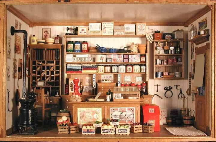 mini general store so cute miniature shops pinterest. Black Bedroom Furniture Sets. Home Design Ideas