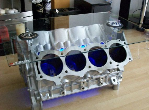 V8 engine block coffee tables by enginehacker on etsy 900 00