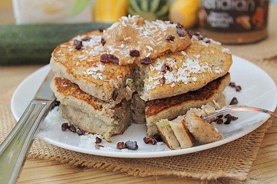 Favourite quick bread turned pancake! Zucchini bread pancakes...vegan ...