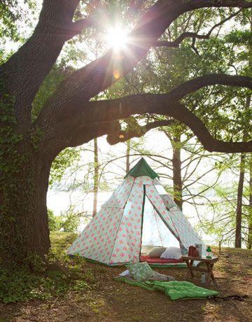 Pretty Tent Camping