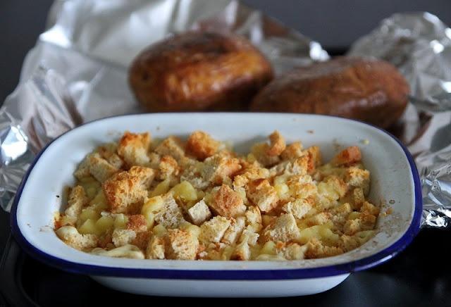 Deb's Dust Bunny: Sea Salt Baked Potatoes and Creamy Onion Gratin