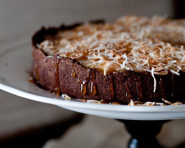 ... : Recipe For Vegan, Gluten-Free Black-Bottom Coconut Cream Tart