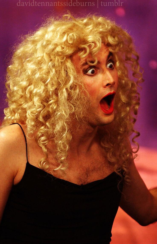 Aaaaaand David Tennant as a woman. Bahahaha