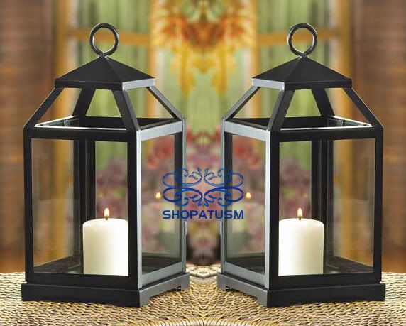 Black lantern centerpieces beach wedding pinterest