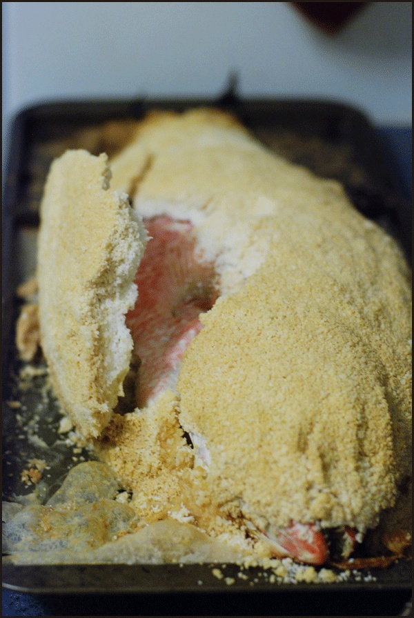 Whole fish roasted in salt crust | Fish & Seafood Recipes | Pinterest