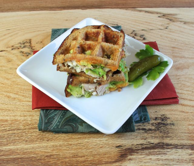 turkey and avocado panini 2 Turkey and Avocado Waffle Iron Panini
