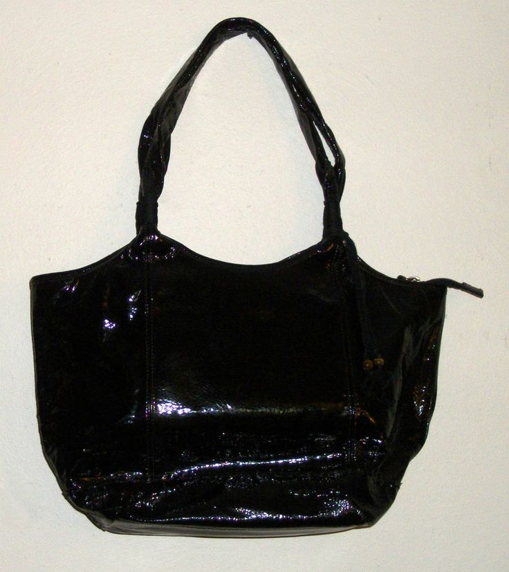 THE SAK Black Patent Leather Shoulder Bag with Bead Accents. Excellent Pre-Owned Condition! $39.99 obo
