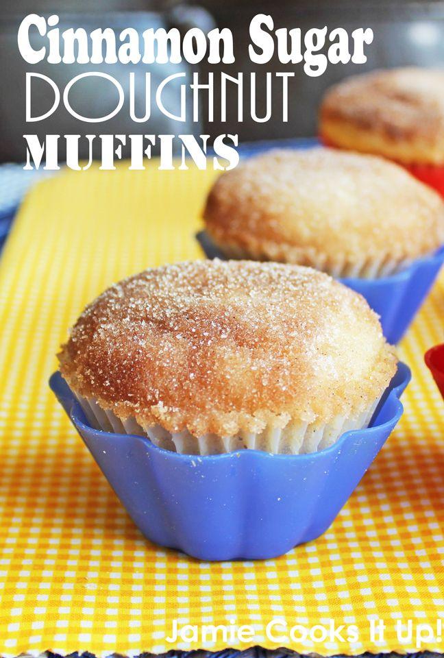 Cinnamon Sugar Doughnut Muffins from Jamie Cooks It Up!