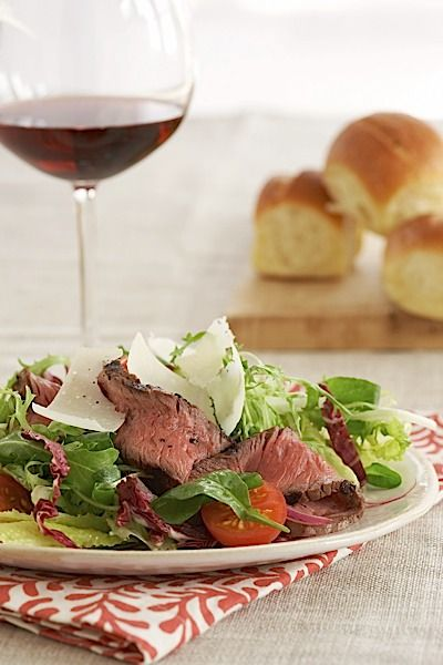 Steak Salad with Tomatoes, Parmesan, and Dijon Vinaigrette | Organic ...