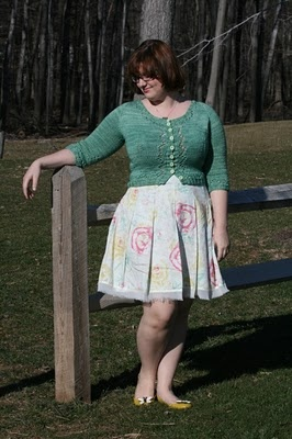 Erika Made It -- Miette Cardigan by Andi Satterlund in madelinetosh tosh vintage clover