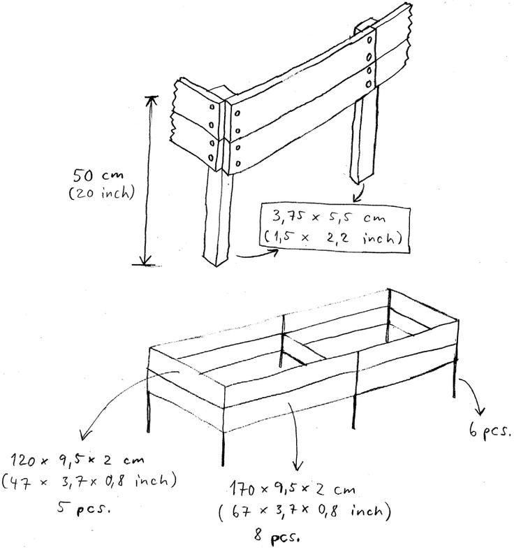 Raised bed plans garden diy pinterest for Garden design for disabled