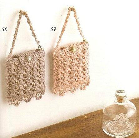Crochet Bag Drawstring Pattern : Crochet purse with diagram My crochet Purses Pinterest