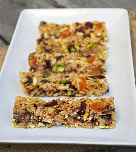 No marshmallows required!) Crispy Rice Bars with Pistachios & Honey ...
