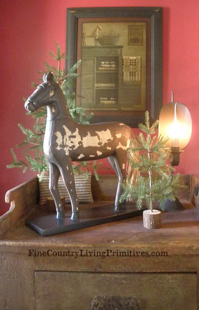Our Primitive Colonial Christmas Home Primitive Decor