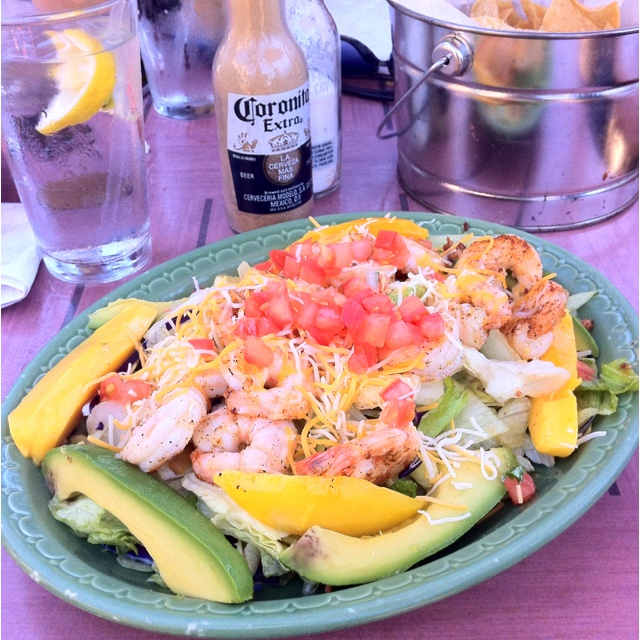 Beach Mex's grilled shrimp, mango & avocado salad.