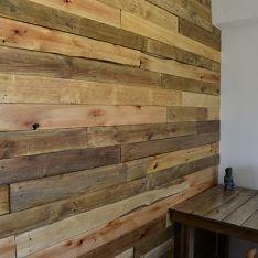 Revestimiento de madera reciclada pallet muros texturas for Revestimiento tipo madera