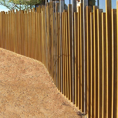 Contemporary timber fencing