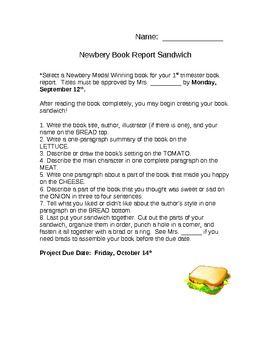 book sandwich book report