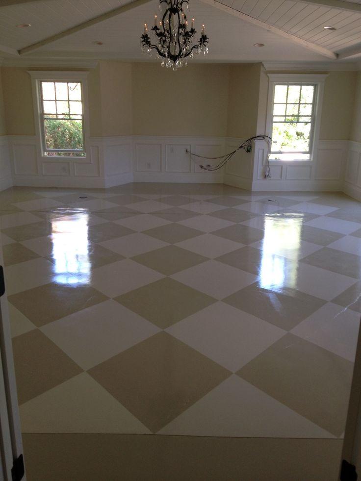 Painted Concrete Floor Inside Decor Pinterest