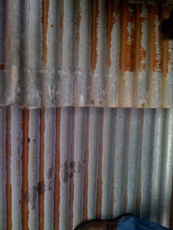 Rusted corrugated sheet metal craft ideas diy pinterest for Metal sheets for crafting