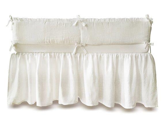 american company crib bed skirt baby percale dust ruffle 100 cot - Dust Ruffles