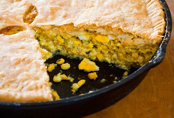Corn Pie from Leite's Culinaria