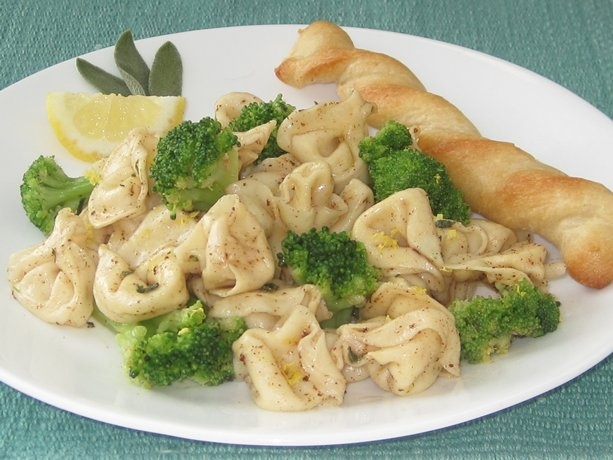 Browned Butter Three-Cheese Tortellini and Broccoli | Recipe