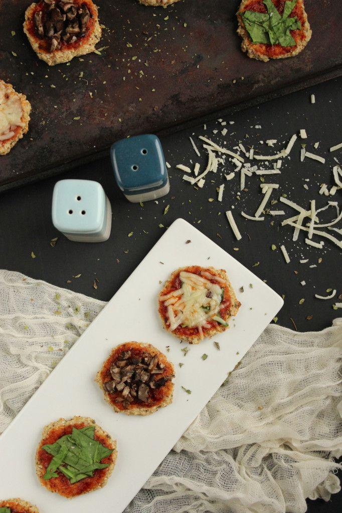 ... try this cauliflower crust thing - Mini Cauliflower Crust Pizza Bites