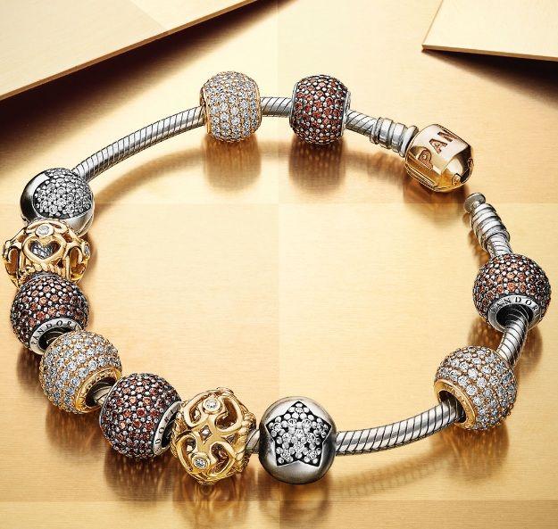 Pandora Xmas 2013 Trends Molten Metals Pandora Jewelry Design Idea