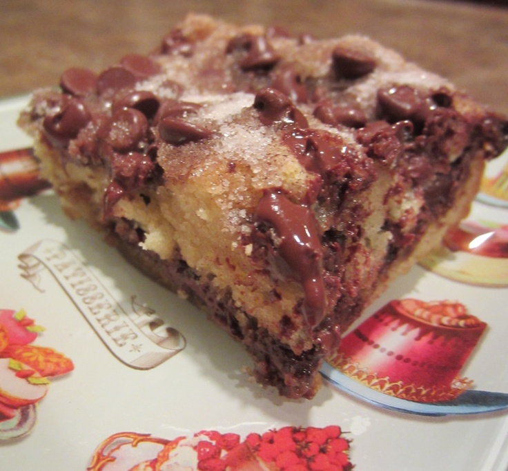 chocolate chip coffee cake | Dessert Recipes | Pinterest