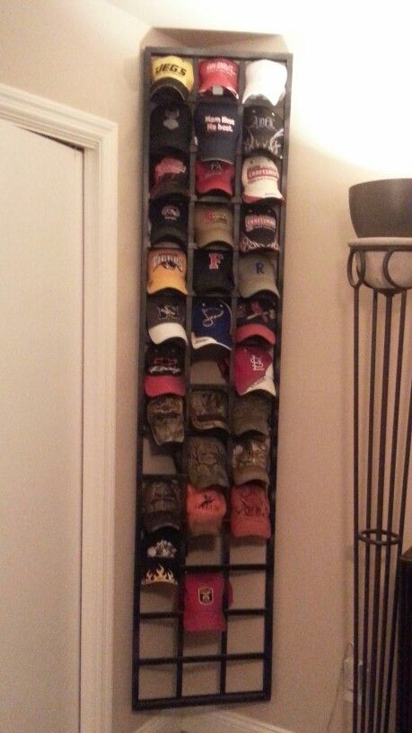 Ball cap organizer you 39 ll never miss place or lose your for Baseball hat storage solutions