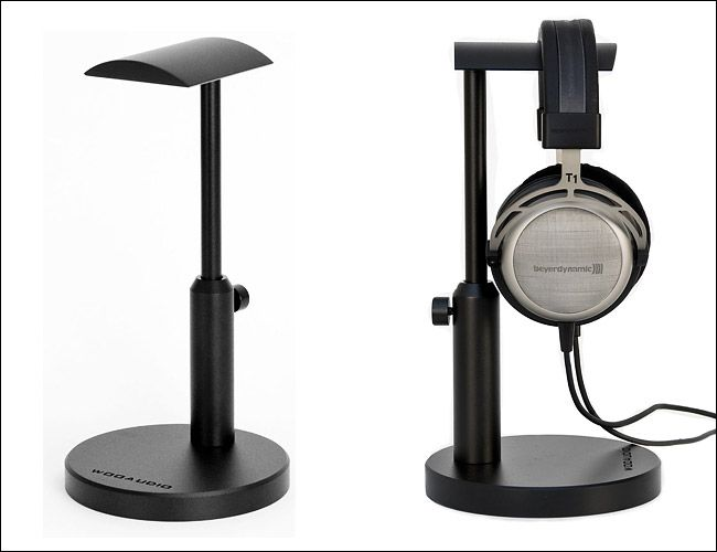Woo audio aluminum headphone stand audio gear pinterest - Woo headphone stand ...