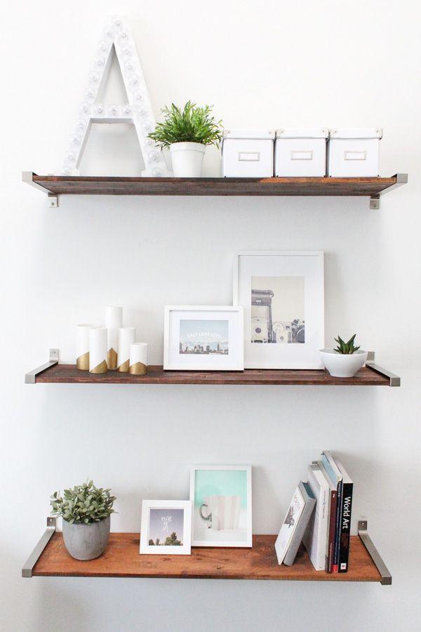 DIY Distressed Wooden Shelves