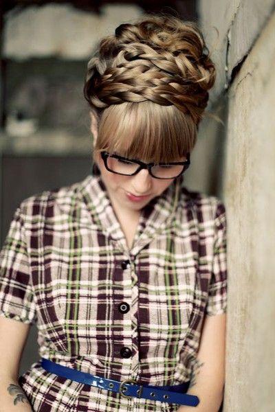 Twist Braid Updo Hairstyle Tutorial: Maiden Hairstyles