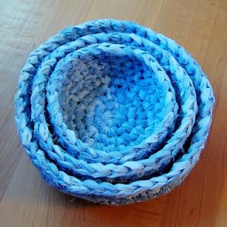 Green Crocheting: Fabric Nesting Baskets Pattern