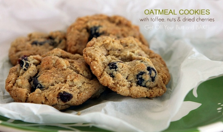 Oatmeal Cherry Toffee Nut Cookies | Cookies | Pinterest
