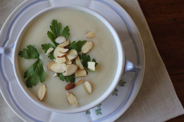 creamy cauliflower soup--minus the parsnip and add chicken broth. so ...