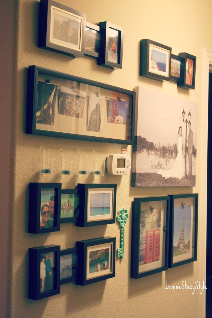 Travel wall photo display ideas pinterest for Travel gallery wall ideas