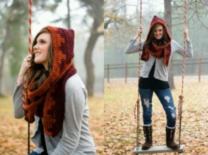 Hat/scarf combo crochet patterns Pinterest